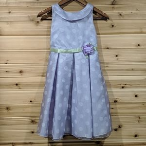 Children's Place Purple Polka Dot Spring Dress